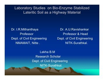 Laboratory Studies on Bio-Enzyme Stabilized Lateritic Soil ... - pmgsy