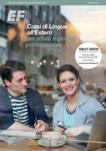 Corsi di Lingue all'Estero per adulti e giovani professionisti
