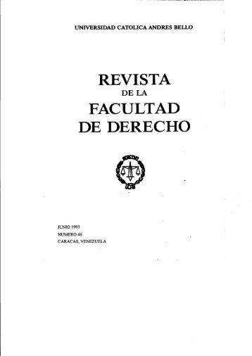de derecho - Libros, Revistas y Tesis - Universidad Católica Andrés ...