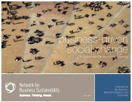 business-driven social change - Network for Business Sustainability