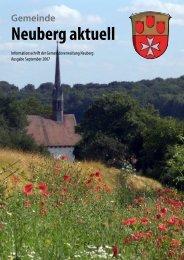 NEUBERG aktuell, Ausgabe 09/2007 - Gemeinde Neuberg