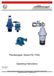 Installation, operating and maintenance instructions PG/PGA Series