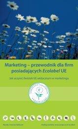 Marketing – przewodnik dla firm posiadających Ecolabel UE