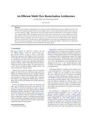 An Efficient Multi-View Rasterization Architecture