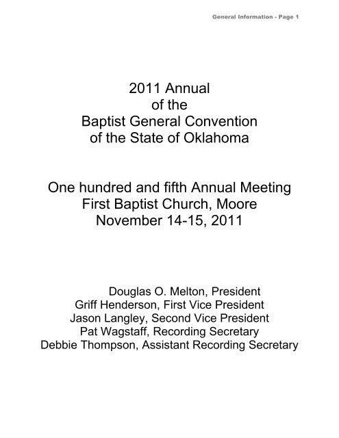 Download - Baptist General Convention of Oklahoma