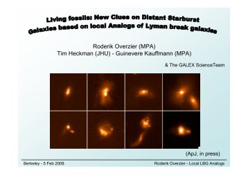 Living fossils: A detailed view of distant Lyman break galaxies using ...