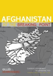 Afghanistan--At the Breaking Point - Carnegie Endowment for ...