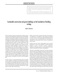 Sustainable construction and green buildings on the foundation of ...
