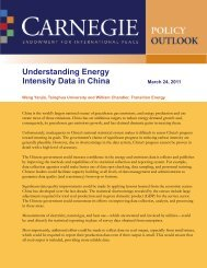 Understanding Energy Intensity Data in China - Carnegie ...