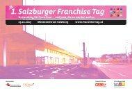 1. Salzburger Franchise Tag - Österreichischer Franchise-Verband