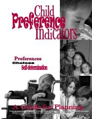 Child Preference Indicators - Forsyth County Schools