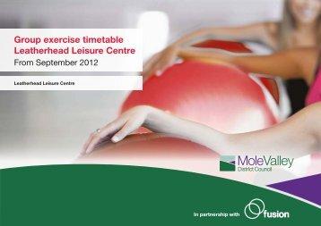 Group exercise timetable Leatherhead Leisure ... - Fusion Lifestyle