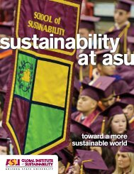 toward a more sustainable world - Arizona State University