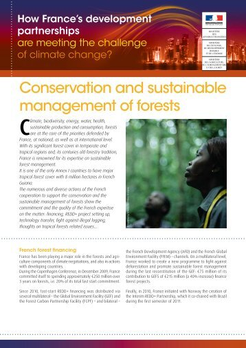 Conservation and sustainable management of forests