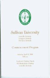 Commencement Program - Sullivan University | Library