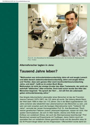 KLINIKMAGAZIN des Universitätsklinikums Jena