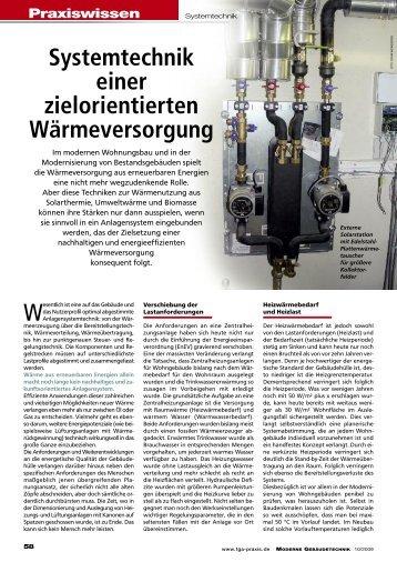 Systemtechnik einer zielorientierten Wärmeversorgung - Forum ...