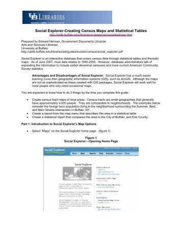 Social Explorer-Creating Census Maps and Statistical Tables