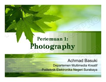 Photography - Lecturer EEPIS