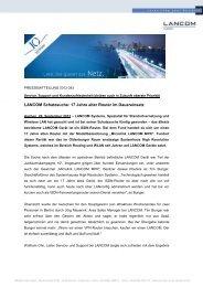 Pressemitteilung als PDF - LANCOM Systems GmbH
