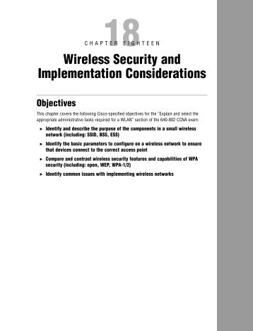 Wireless Security and Implementation Considerations - The Cisco ...