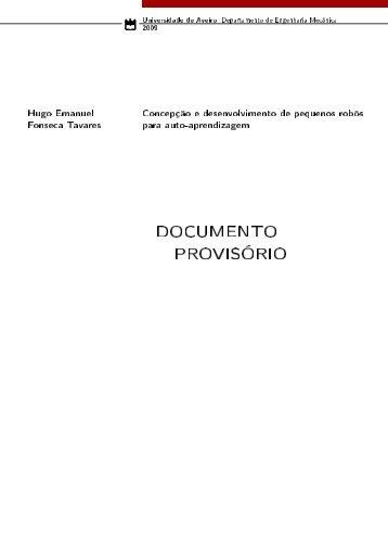 DOCUMENTO PROVISÓRIO - Universidade de Aveiro