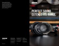 SRH Professional Headphones Brochure - Shure