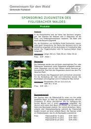 Gemeinsam für den Wald - Gemeinde Fislisbach