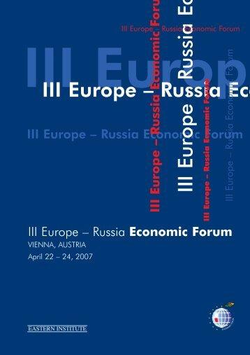 III Europe - Economic Forum