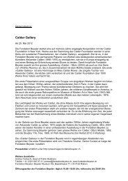 Download Pressedossier PDF - Fondation Beyeler