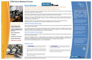CCNA Voice Weekend Course - The Cisco Learning Network