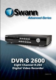 4 / 8 Channel D1 Realtime H 264 DVR - Swann Communications