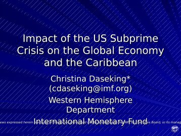 Impact of the US Subprime Crisis on the Global Economy and the ...