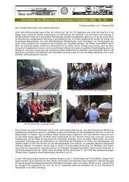 Newsletter_26 vom 01.10.2009 - Historische Eisenbahn Frankfurt