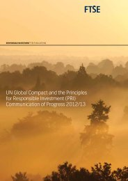 UN Global Compact and the Principles for Responsible ... - FTSE