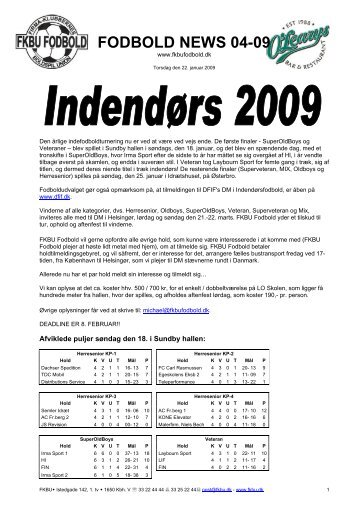 Fodbold News 04-09 - Fodbold FKBU
