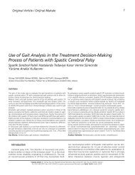 Use of Gait Analysis in the Treatment Decision-Making Process of ...
