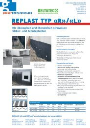 REPLAST TyP «R»/«L» - Gasser Baumaterialien AG