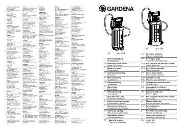 OM, Gardena, Slėginis purkštuvas 5l, Art 00822, Art 00828, 2013-03