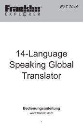 14-Language Speaking Global Translator - Produktinfo.conrad.com