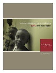 2004 annual report - Bill & Melinda Gates Foundation