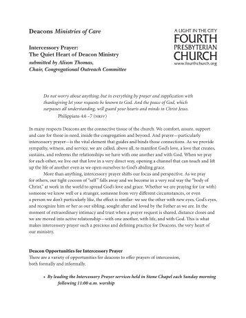 Intercessory Prayer - Fourth Presbyterian Church