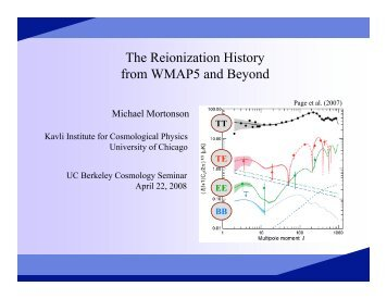 The Reionization History from WMAP5 and Beyond - Berkeley ...