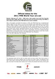 Dates are set for 2011 FMB World Tour - Freeride