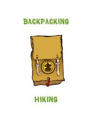 BACKPACKING 101 - Connecticut Yankee Council