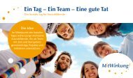 Ein Tag – Ein Team – Eine gute Tat - Freiwilligenagentur Magdeburg