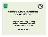 Florida's Turnpike Enterprise Industry Forum
