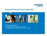 Alternative demand attribution formula