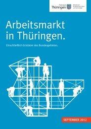 Arbeitsmarkt im September 2012 - Freistaat Thüringen