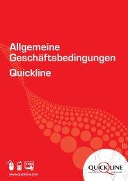 AGB QuickLine - Bestell- und Lieferbedingungen ... - GA Weissenstein